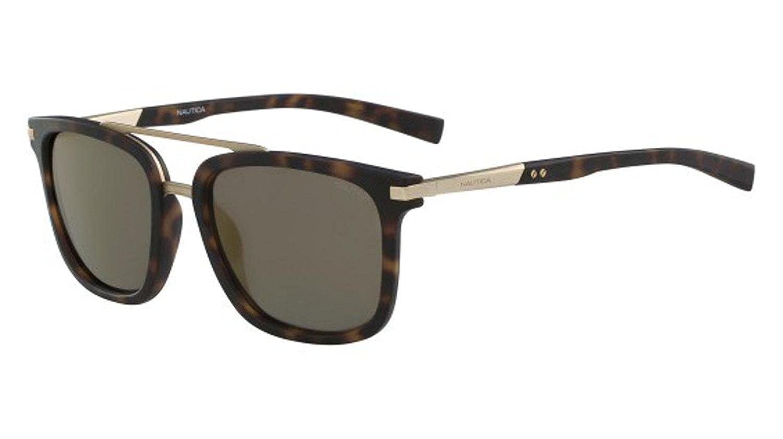 37f66bc7e634d Amazon.com  Nautica Plastic Frame Brown Lens Unisex Sunglasses  N6223S680925418237  Watches
