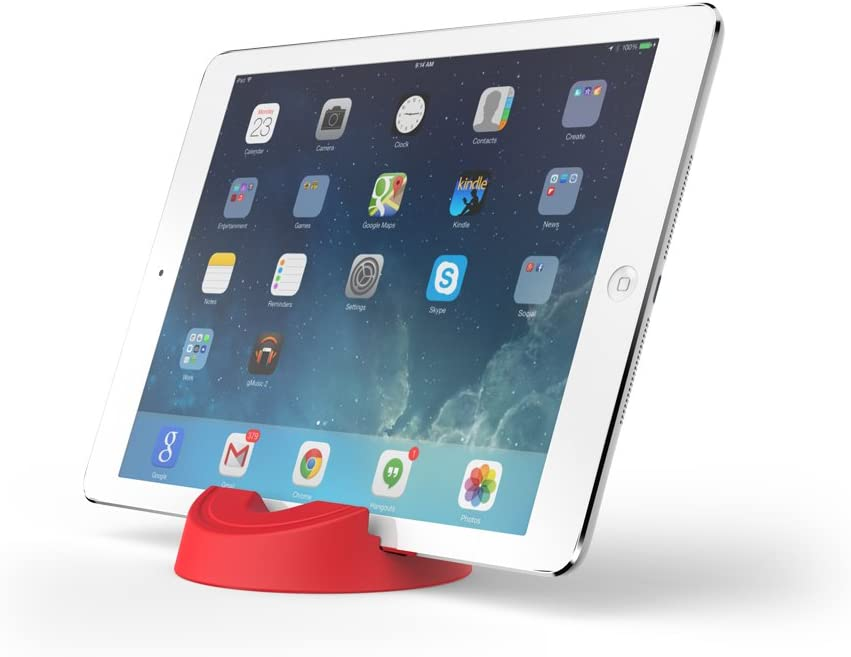 GOGO Industries Stump Stand for eReaders, iPads, iPhones, and Tablets - Red