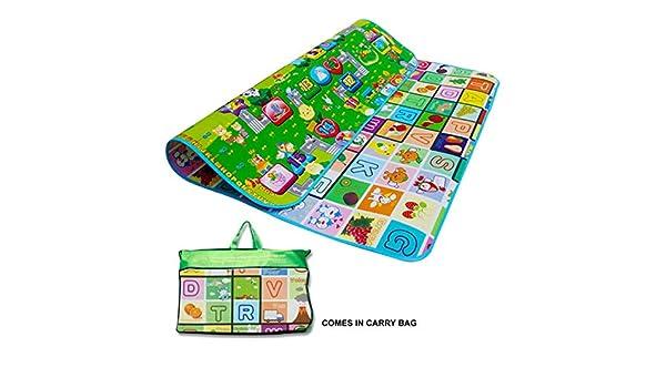 Alfombra infantil para bebés, niños, alfombra de juego, Crawl, habitación infantil, alfombra para habitación de juegos, picnic, 200 x 180 cm: Amazon.es: ...