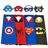 Ouwen Fun Top Cool Toys for Boys Age 3-8, Superhero Cape for Kids Boys Presents Birthday Christmas Party Gifts for 3-10 Year Old Boys Kids 4BPiece OWUSCM01