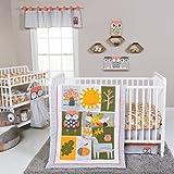 Trend Lab Olive Owl 5 Piece Crib Bedding Set, Multi