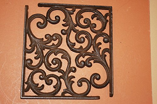 Southern Metal Set of 6 Victorian Shelf Brackets Solid Cast Iron Ornate Scroll Corbels, 9 1/4'' x 7 3/4'' Volume Priced, B-23 by Southern Metal (Image #5)