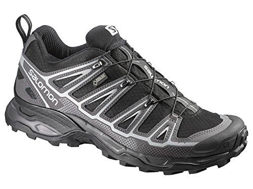 Salomon X Ultra GTX Pics 2m-noir/autobahn/en aluminium-9UK/EU 431/3/US 9.5-Veste imperméable confortable Gore-Tex Chaussures d'hiver