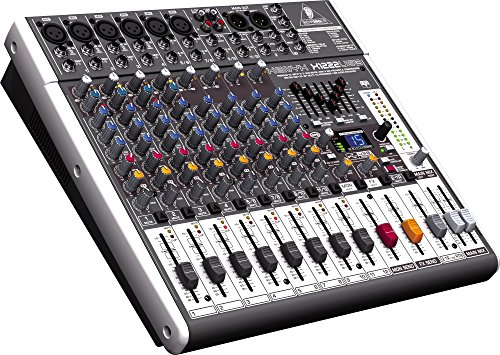 Behringer XENYX X1222USB USB Mixer with Effects (Stereo Band Compressor Multi)