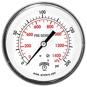winters p9s 90 series steel pressure gauge with removable. Black Bedroom Furniture Sets. Home Design Ideas