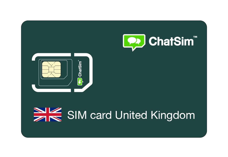 sin costes fijos 1 GB para 30 d/ías Tarjeta SIM internacional para viajes a REINO UNIDO y en todo el mundo red multioperador GSM//2G//3G//4G cobertura 165 Pa/íses ChatSim roaming global
