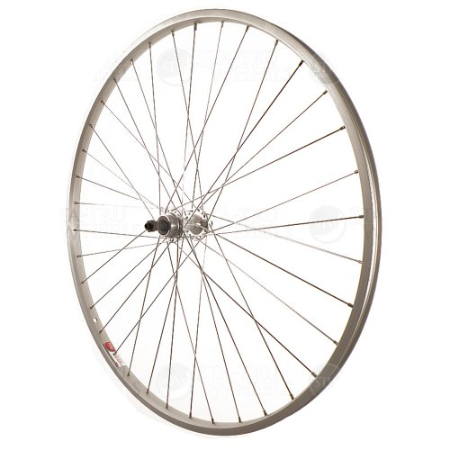 Sta Tru Silver Alloy Freewheel Hub Rear Wheel (27X1 ¼ Inch)