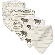 Hudson Baby Baby Bandana Bib, 4 Pack, Sheep, One Size
