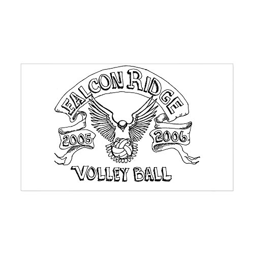 CafePress - Falcon Ridge Volley Ball Rectangle Sticker - Rectangle Bumper Sticker Car Decal