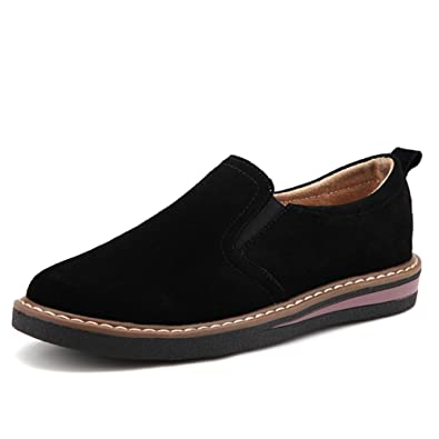 4e6c7cfda6012 HKR-PX978heise37 Women Slip On Suede Fashion Sneakers Driving Loafers  Comfort Moccasins Non Slip Work