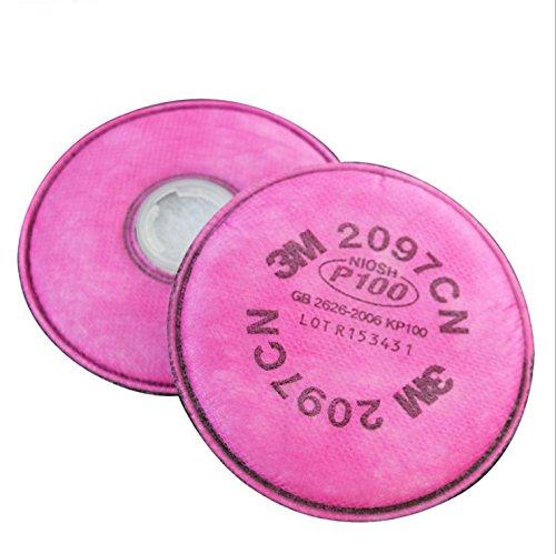 Un par de filtros 2097 P100 para partí culas de olor de vapor orgá nico Trudsafe