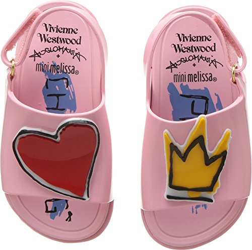 Vivienne Westwood Baby Girl's Mini Anglomania + Melissa Beach Slide Sandal (Toddler) Pink 7 M US Toddler by Vivienne Westwood