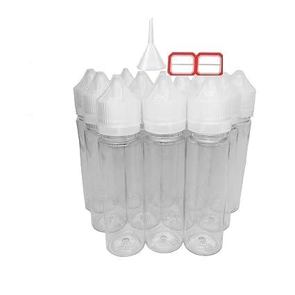 30 x 60ml botellas para liquido de cigarrillos electrónicos Suave apretar botella de PET comprimible par