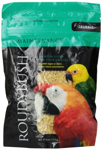 RoudyBush Daily Maintenance Bird Food, Crumbles, 8-Ounce ()