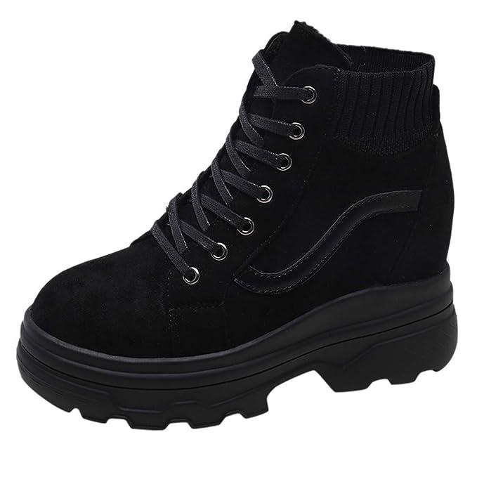 ZARLLE_Zapatos Calzado de Mujer, Mujer Sneakers de Mujer Calcetines Ocultos de la cuña del Reborde del talón Zapatos Individuales Casual Viajar Zapatos: ...