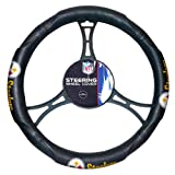 Steelers OFFICIAL National Football League, Steering Wheel Cover (made to fit steering wheels 14.5 15.5)