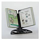 TFITDBL291 - Tarifold Black Line Desk Set, Black/Green Pockets