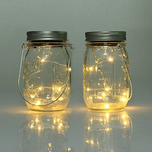 2 Pack Mason Jar Lights Solar Mason Jar Lid Insert