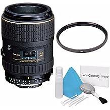 Tokina 100mm f/2.8 at-X M100 AF Pro D Macro Autofocus Lens for Nikon AF-D (International Model) +Deluxe Cleaning Kit + 55mm UV Filter