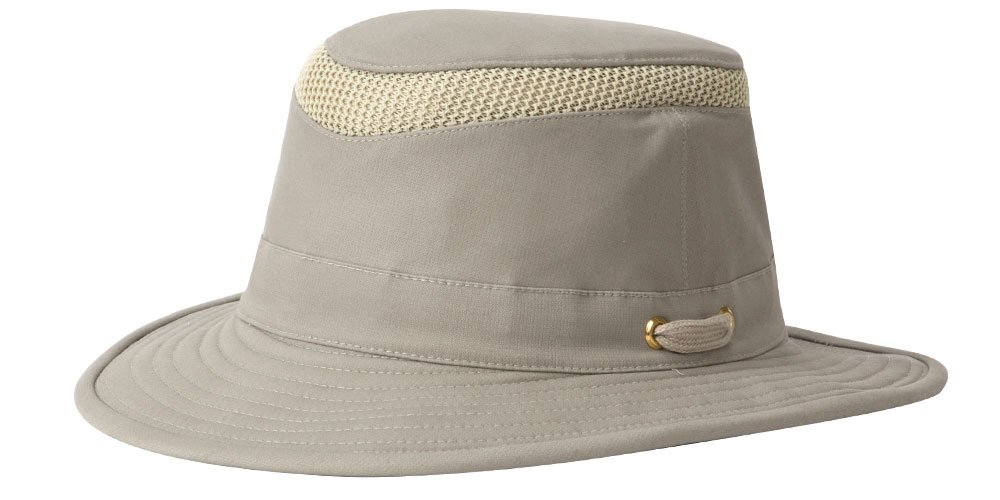 Tilley T5MO Organic Cotton Airflo Hat, Khaki With Olive Underbrim, 7 3/8