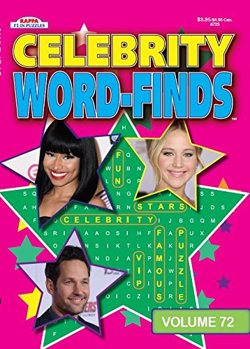 Celebrity Word-Finds Puzzle Book-Word Search Volume 72