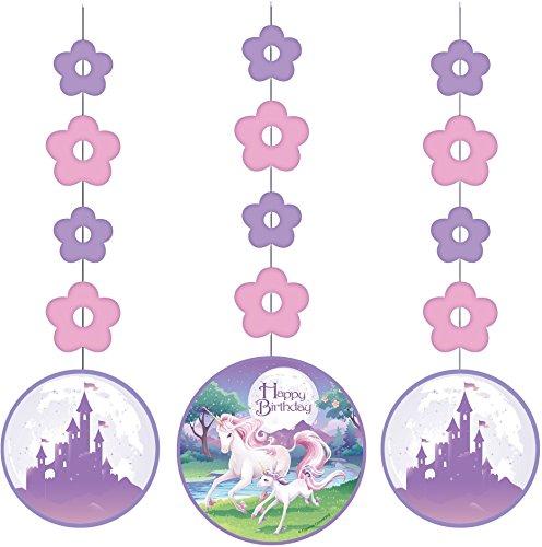 Fantasy Unicorn Hanging Cutouts 3 ct.