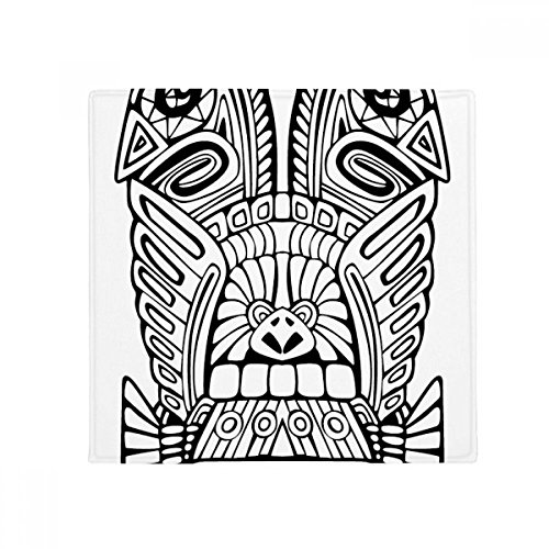 DIYthinker Indian Abstract Totem Line Drawing Pole Face Anti-Slip Floor Pet Mat Square Home Kitchen Door 80cm Gift