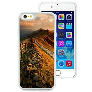 NEW Unique Custom Designed Ipod Touch 4 Inch TPU Phone Case With Mountain Rock Trail Sunset_White Phone Case