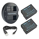 DMW-BLC12 Newmowa Battery (2 pack) and Dual USB Charger for Panasonic DMW-BLC12, DMW-BLC12E, DMW-BLC12PP and Panasonic Lumix DMC-FZ200, DMC-FZ1000, DMC-G5, DMC-G6, DMC-G7, DMC-G85, DMC-GH2, DMC-GX8