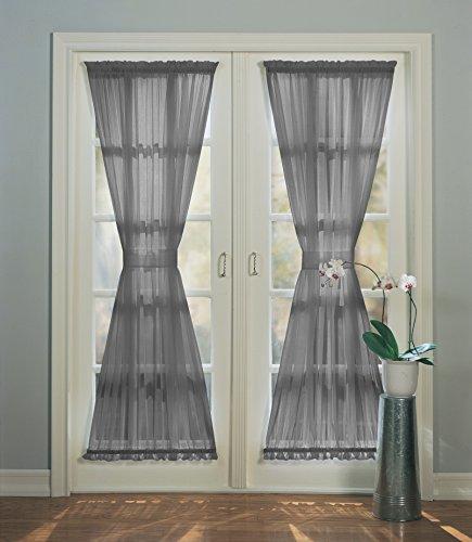No. 918 Emily Sheer Voile Patio Door Curtain Panel, 59