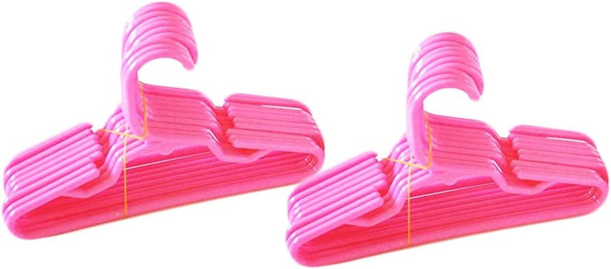 100X Doll Clothes Hanger Hangings for Doll High PinkSN LPUODUS