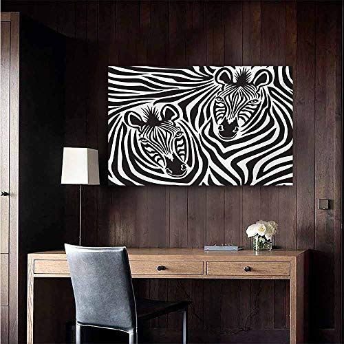 duommhome Safari Light Luxury American Oil Painting Couple of Zebras Eyes Face Heads Image Pattern Artistic Wild Animals Design Home and Everything 20