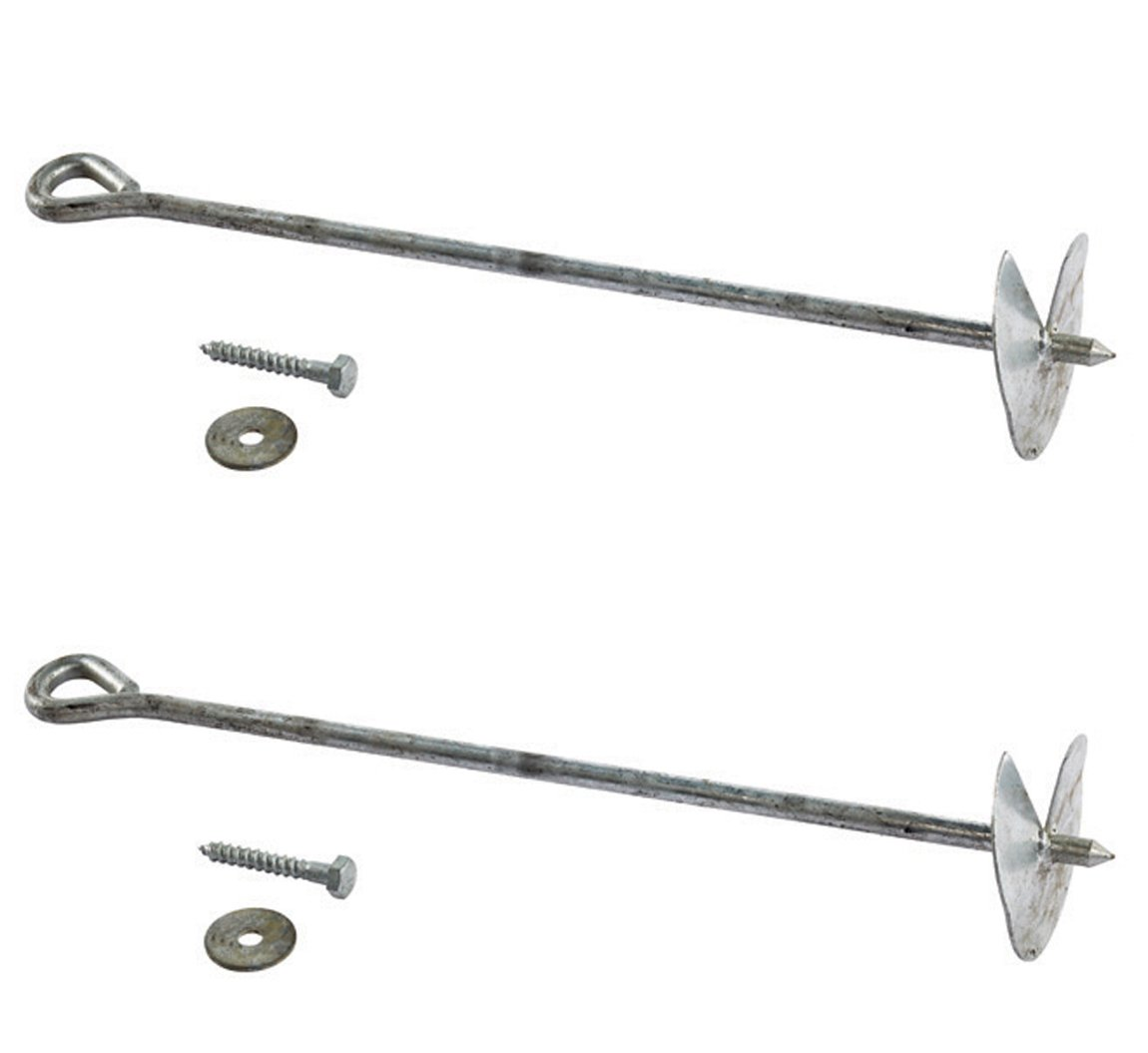 playhouses etc. Four Anchors Ground Anchors 12mm Solid Galvanised Steel: for climbing frames 4