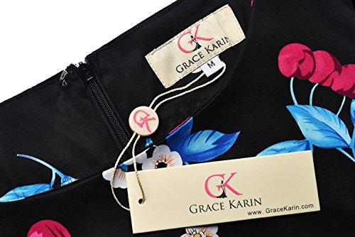 Grace Karin - Vestido sin mangas de la vendimia para mujer 17#