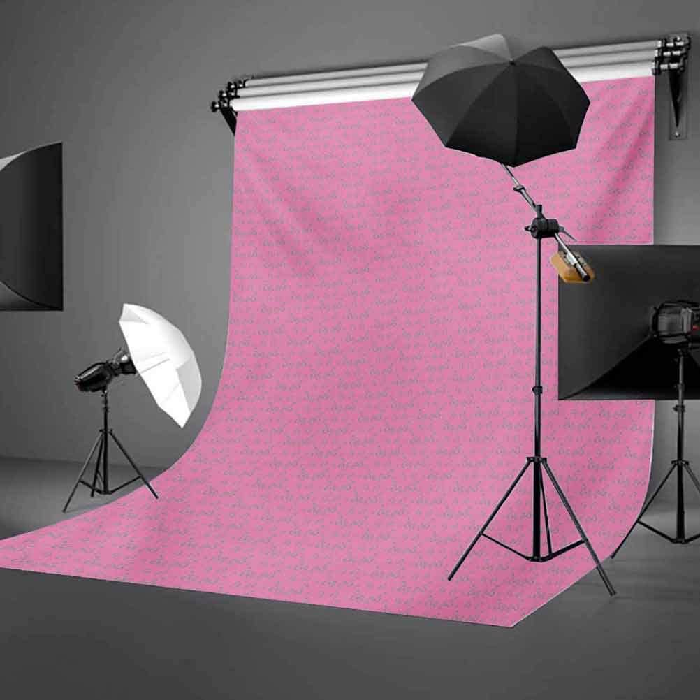 10x15 FT Photo Backdrops,Ornamental Abstract Detailed Flower Leaves Design on Pink Backdrop Nature Artwork Background for Kid Baby Boy Girl Artistic Portrait Photo Shoot Studio Props Video Drape