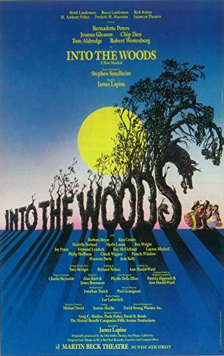 Into the Woods Poster Broadway Theater Play 14x22 Bernadette Peters Joanna Gleason Chip Zien