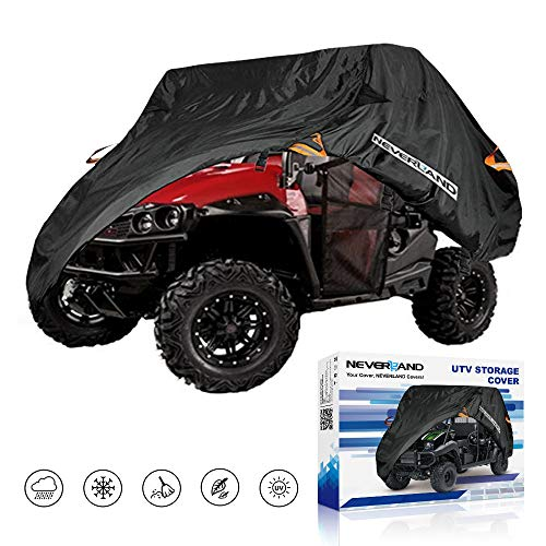 NEVERLAND UTV Cover,190T Waterproof Material for Polaris Ranger Yamaha WOLVERINE Honda Kawasaki Teryx Textron Off Road Wildcat 2-3 Passenger (Polaris 900 Side By Side For Sale)