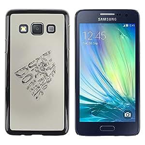Be Good Phone Accessory // Dura Cáscara cubierta Protectora Caso Carcasa Funda de Protección para Samsung Galaxy A3 SM-A300 // Pen Paper Hand Motivational
