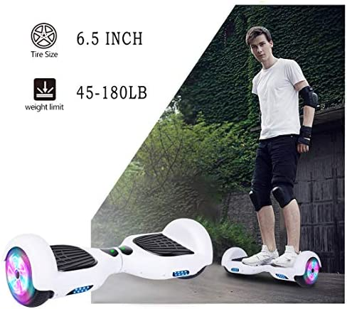 Huanhui Hoverboard, 6,5 Pouces Self Balancing Electric Scooter avec Certification UL2272 sûre, Segway pour Enfants et Adultes, Super Cadeaux