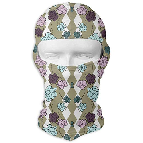 SWIJHAN Hex Garden Wallpaper Balaclava Face Mask Breathable Outdoor Sports Motorcycle Cycling Snowboard Hunting Ski