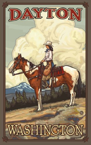Northwest Art Mall Dayton Washington summer Cowgirl Unframed Poster Print by Paul A. Lanquist, 11-Inch by - Dayton Mall The