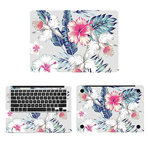 Art Flowers Painting Laptop Full Cover Skin for Macbook Decal Pro Air Retina 11 12 13 15 Inch Mac Book Protective Sticker,Pro 15 Inch A1707,ACD Side