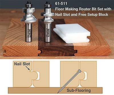 Floor Making Router Bit Set w/Nail Slot