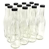 Clear Glass Woozy Bottles, 12 Oz – Case of 12