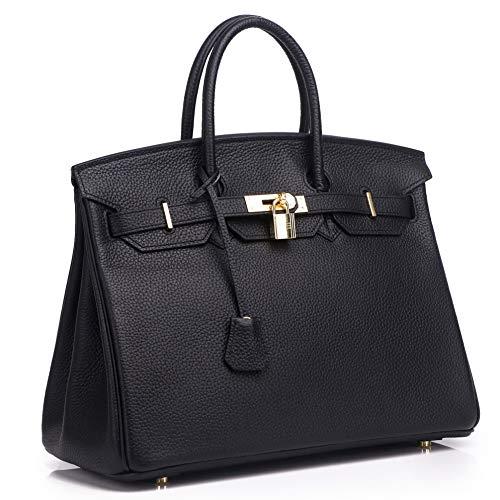 Kueh Womens Padlock Designer Handbags Genuine Leather bags With Gold  Hardware d81d90b13d