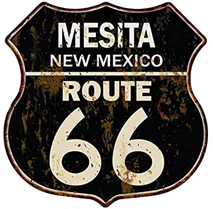 Amazon.com: MESITA, Mexico Route 66 Shield Metal Sign Man ...
