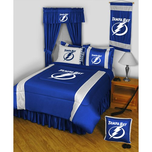 Twin Comforter Collection Sidelines - Tampa Bay Lightning NHL