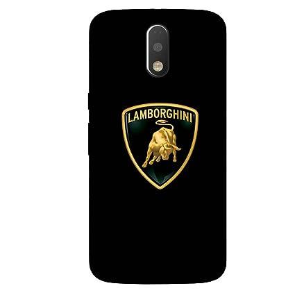Gripit Lamborghini Logo Case For Motorola Moto G4 Plus Amazon In