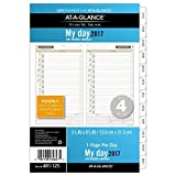 Day Runner Daily / Monthly Planner Refill 2017, 1 Page-Per-Day, 5-1/2 x 8-1/2, Size 4 (481-125) by Day Runner