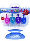 Let's Play Dreidel The Hanukkah Game 4 Multi Solid Colored...